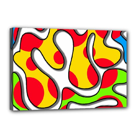 Colorful graffiti Canvas 18  x 12