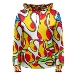 Colorful Graffiti Women s Pullover Hoodie