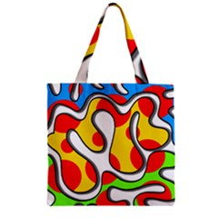 Colorful graffiti Zipper Grocery Tote Bag