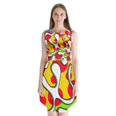 Colorful graffiti Sleeveless Chiffon Dress