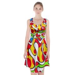 Colorful graffiti Racerback Midi Dress