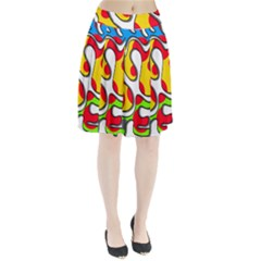 Colorful graffiti Pleated Skirt