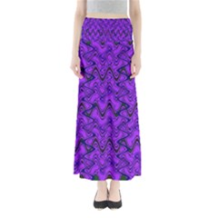 Purple Wavey Squiggles Maxi Skirts