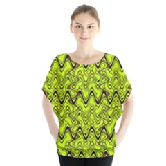 Yellow Wavey Squiggles Blouse
