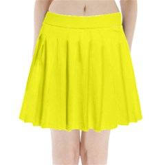 Yellow colour Pleated Mini Skirt