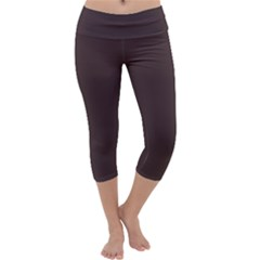 Woody Brown Colour Capri Yoga Leggings