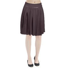 Woody Brown Colour Pleated Skirt