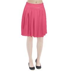 Wild Watermelon Colour Pleated Skirt