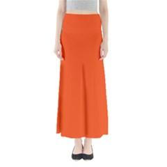 Vermilion Colour Maxi Skirts