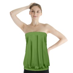 Wasabi Colour Strapless Top