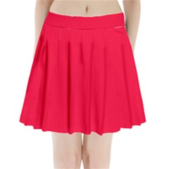 Torch Red Colour Pleated Mini Skirt