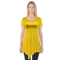Tangerine Yellow Short Sleeve Tunic
