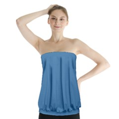 Steel Blue Colour Strapless Top