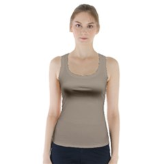 Squirrel Brown Colour Racer Back Sports Top