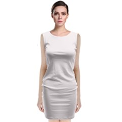 Soft Peach Colour Classic Sleeveless Midi Dress