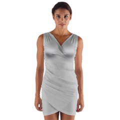 Silver Colour Wrap Front Bodycon Dress