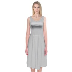 Silver Colour Midi Sleeveless Dress