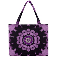 Decorative Leaf On Paper Mandala Mini Tote Bag