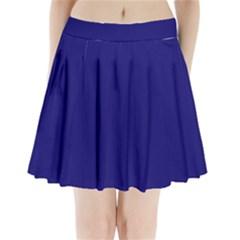 Sapphire Colour Pleated Mini Skirt