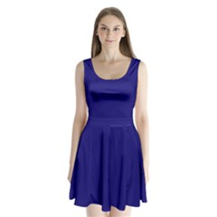 Sapphire Colour Split Back Mini Dress
