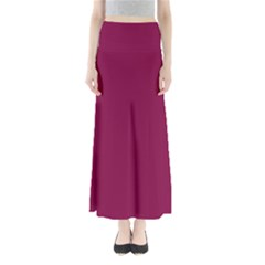 Rose Bud Cherry Colour Maxi Skirts