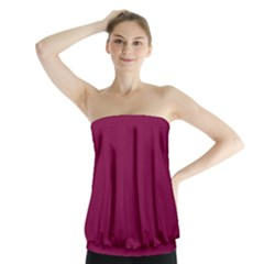 Rose Bud Cherry Colour Strapless Top