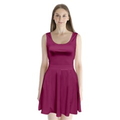 Rose Bud Cherry Colour Split Back Mini Dress
