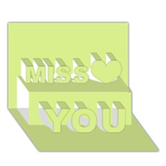 Reef Colour Miss You 3D Greeting Card (7x5)