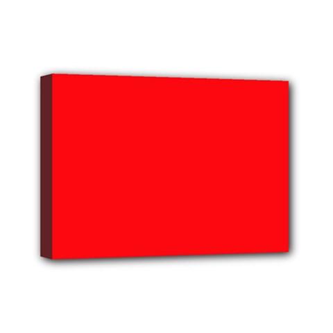 Red Colour Mini Canvas 7  x 5