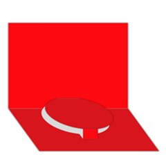 Red Colour Circle Bottom 3D Greeting Card (7x5)
