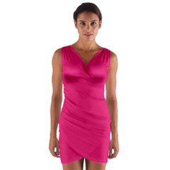 Razzmatazz Colour Wrap Front Bodycon Dress