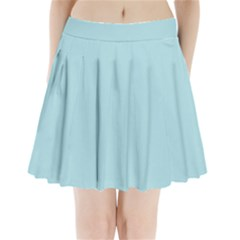 Powder Blue Colour Pleated Mini Skirt