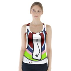 Disco Racer Back Sports Top