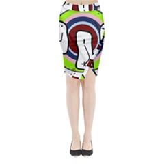 Disco Midi Wrap Pencil Skirt