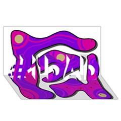Purple graffiti #1 DAD 3D Greeting Card (8x4)
