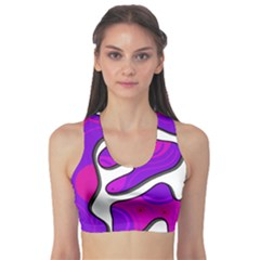 Purple graffiti Sports Bra