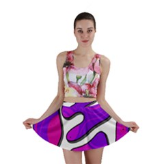 Purple graffiti Mini Skirt