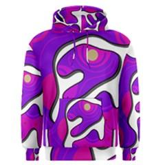 Purple graffiti Men s Pullover Hoodie