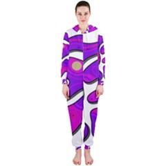 Purple graffiti Hooded Jumpsuit (Ladies)