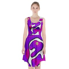 Purple Graffiti Racerback Midi Dress