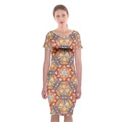 Sacred Geometry Pattern Classic Short Sleeve Midi Dress