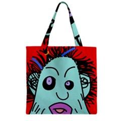 Caveman Zipper Grocery Tote Bag