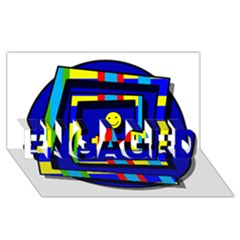 Maze ENGAGED 3D Greeting Card (8x4)