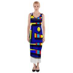 Maze Fitted Maxi Dress