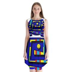 Maze Sleeveless Chiffon Dress