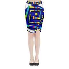 Maze Midi Wrap Pencil Skirt