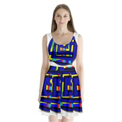 Maze Split Back Mini Dress