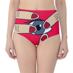 Poke in the eye High-Waist Bikini Bottoms