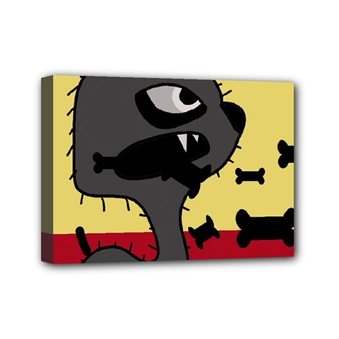Angry little dog Mini Canvas 7  x 5