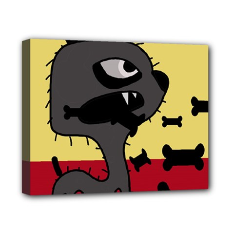 Angry little dog Canvas 10  x 8